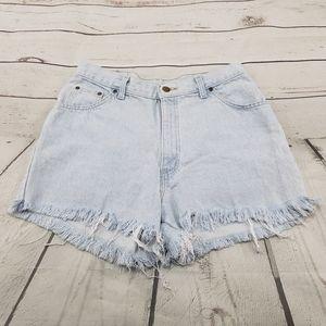 Hunt Club Shorts Size 14 Blue Denim Cut Offs Short